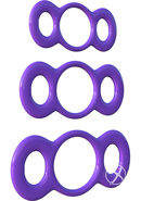 Fantasy C Ringz 3 Ring Quick Release Trainer Set Purple