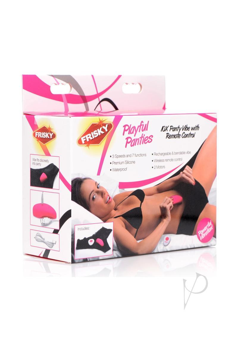 Frisky Playful Panties Vibe W/remote Waterproof Multi Speed